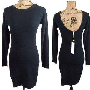 BCBGeneration Fuzzy Scoop Back Sweater Dress-N126